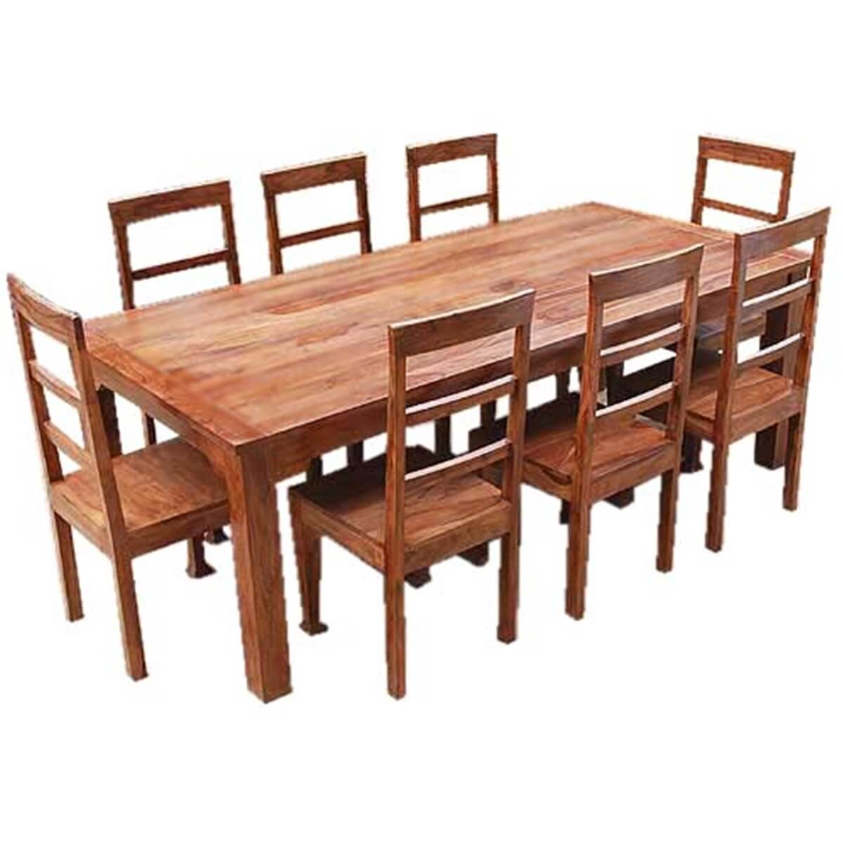 Rustic furniture solid wood dining table chair set for Rustic furniture