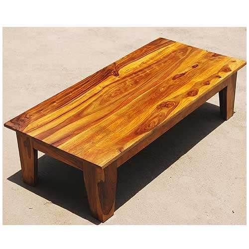 Large rustic coffee table low height traditional for Low lying coffee table