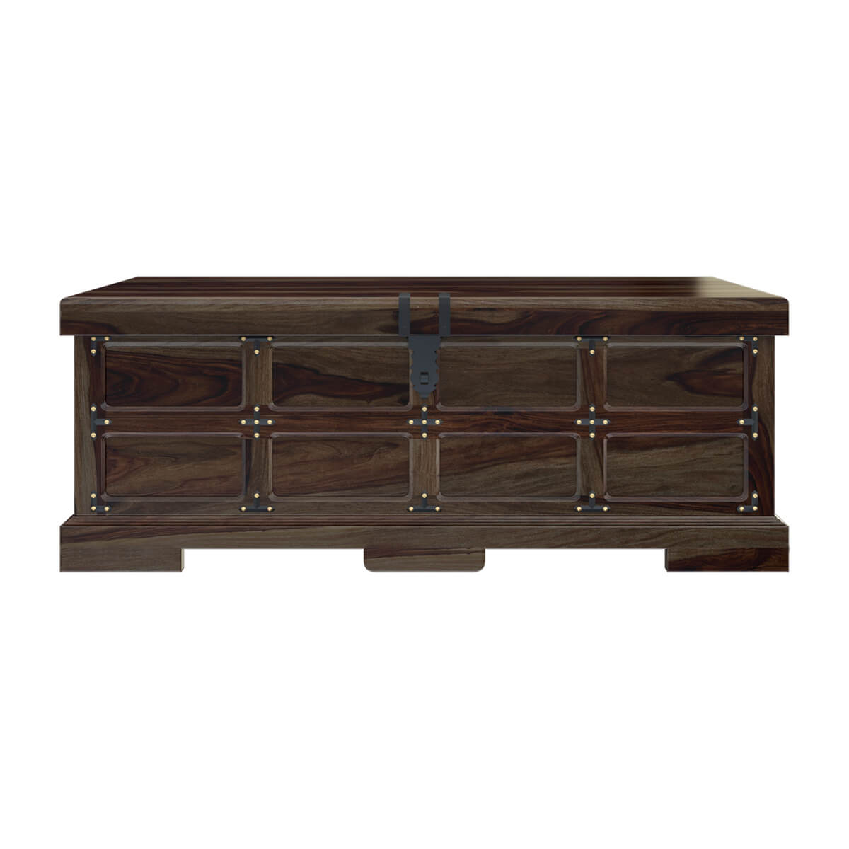 Beaufort steamer storage trunk rustic coffee table chest Coffee table chest with storage