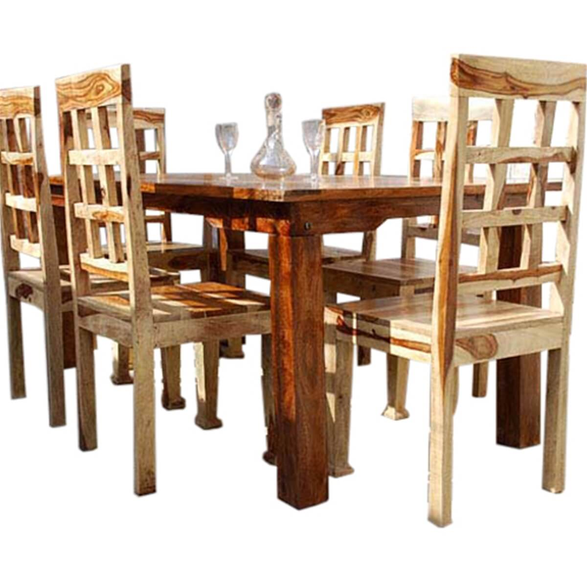 collection portland contemporary 7pc waffle back dining room table set