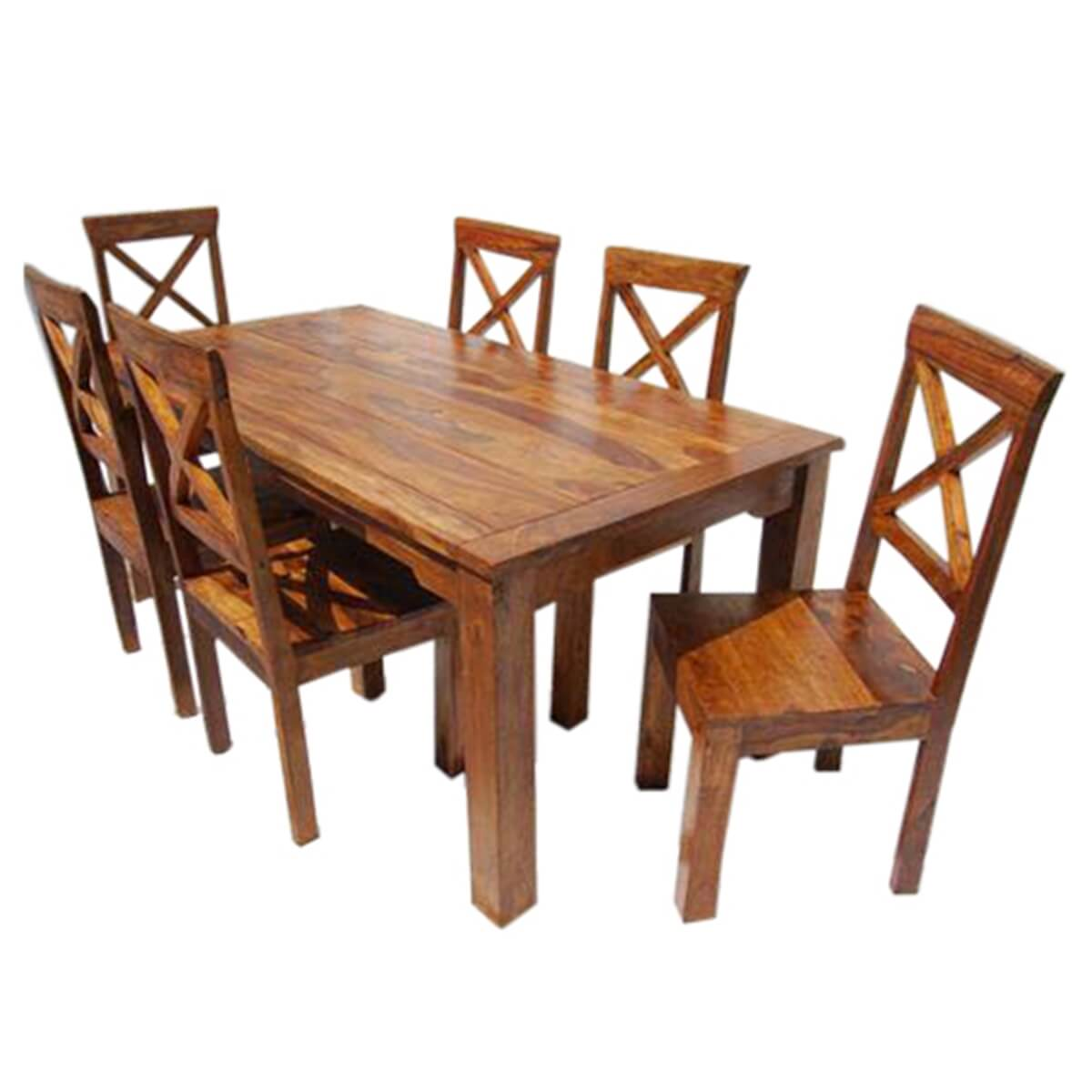 Rustic Solid Wood Oklahoma Dining Table amp Chair Set : 13513 from www.sierralivingconcepts.com size 1200 x 1200 jpeg 297kB
