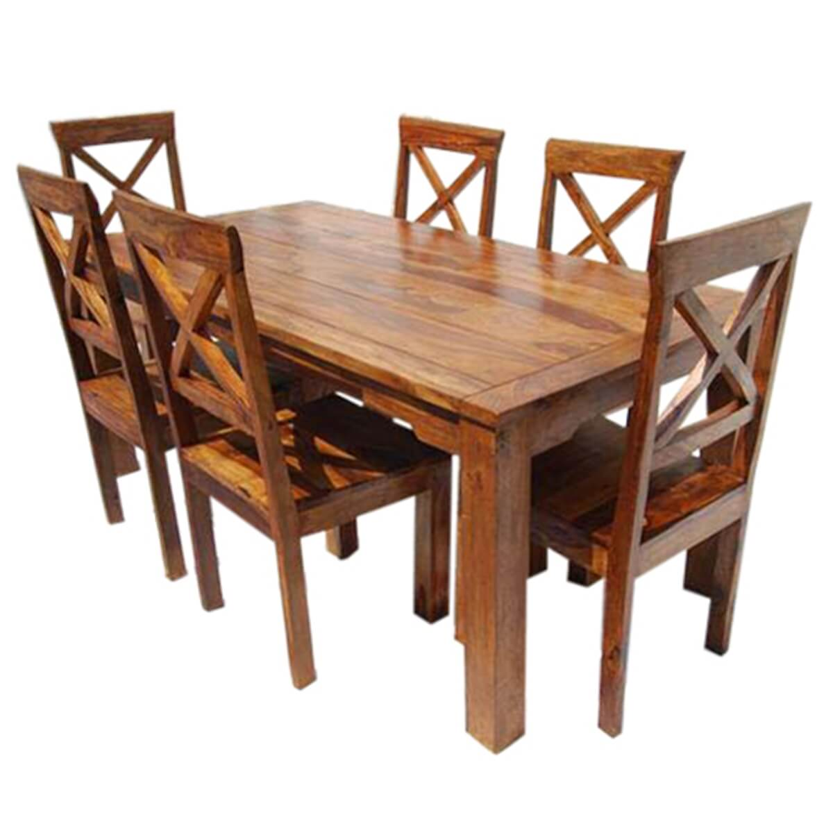 Rustic Solid Wood Oklahoma Dining Table amp Chair Set : 13515 from sierralivingconcepts.com size 1200 x 1200 jpeg 347kB