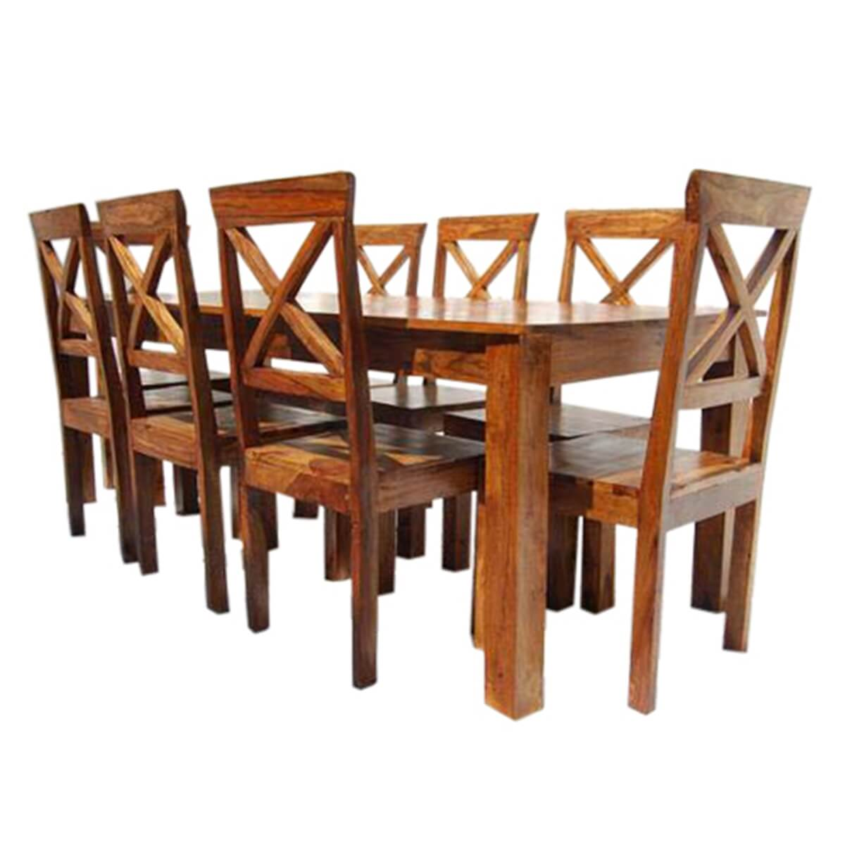 Large Rustic Oklahoma Solid Wood Dining Table amp Chair Set : 13531 from www.sierralivingconcepts.com size 1200 x 1200 jpeg 333kB