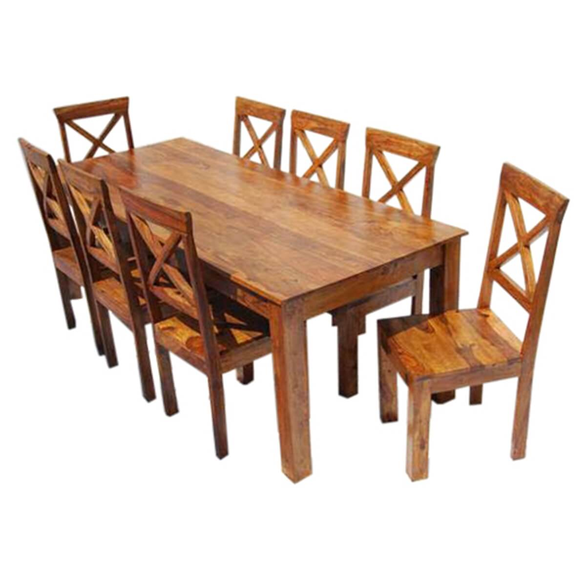 Large Rustic Oklahoma Solid Wood Dining Table amp Chair Set : 13532 from www.sierralivingconcepts.com size 1200 x 1200 jpeg 311kB