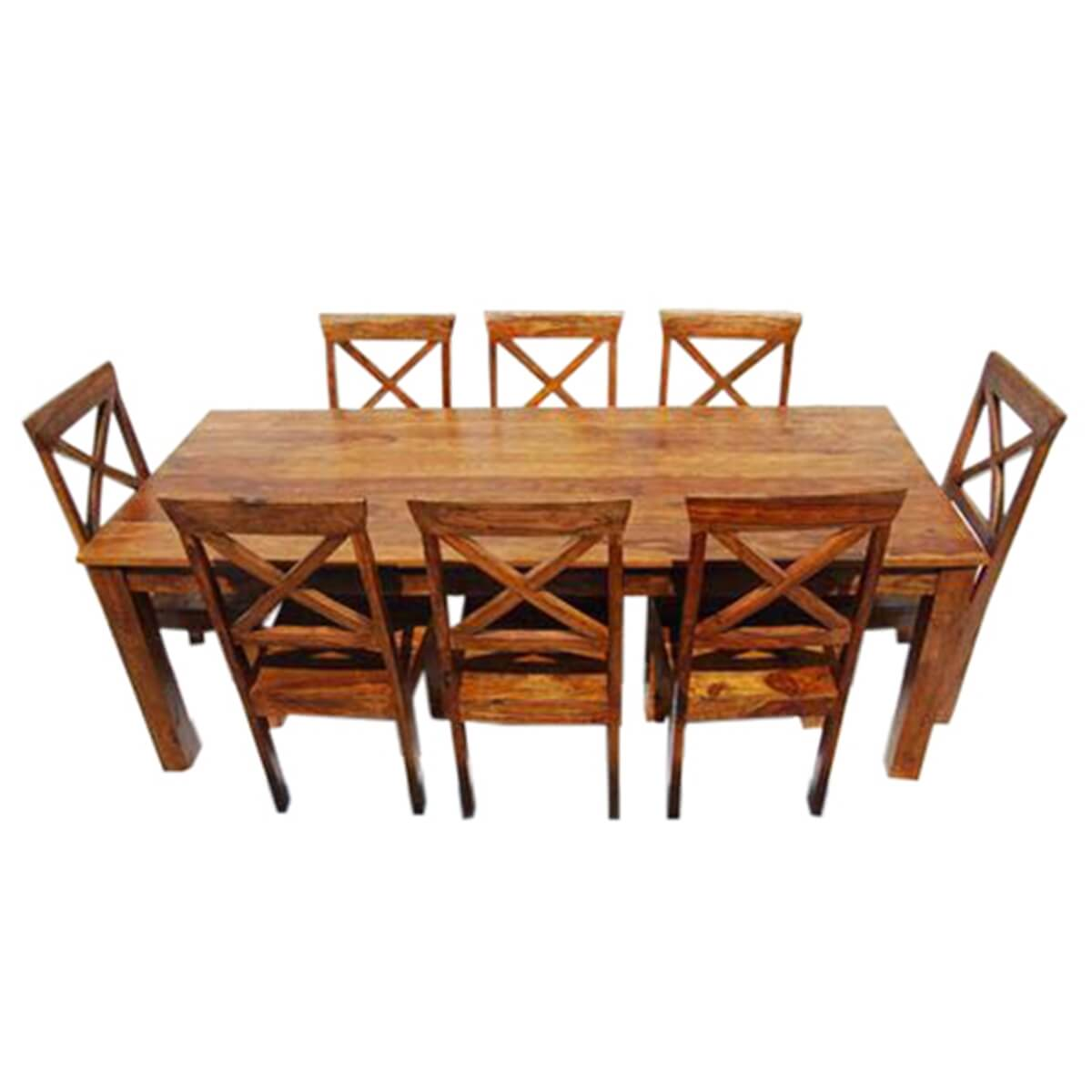 Large Rustic Oklahoma Solid Wood Dining Table amp Chair Set : 13534 from www.sierralivingconcepts.com size 1200 x 1200 jpeg 259kB