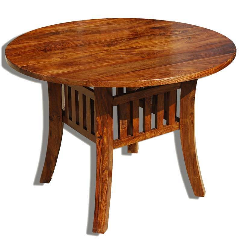 42 solid wood round dining table oklahoma farmhouse style