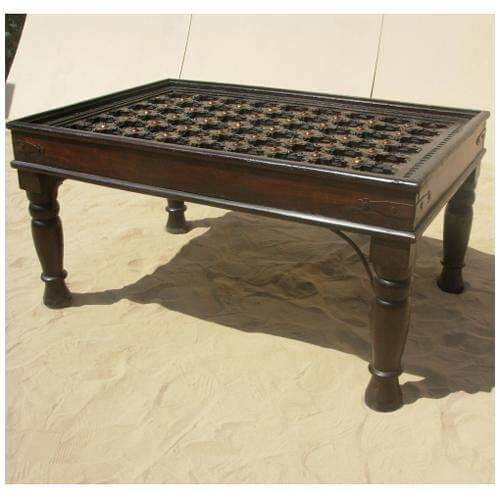 Vintage Wood Coffee Table Nage Designs: Antique Heritage Design Brass And Mango Wood Coffee