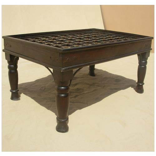Antique heritage design brass and mango wood coffee cocktail table Antique brass coffee table