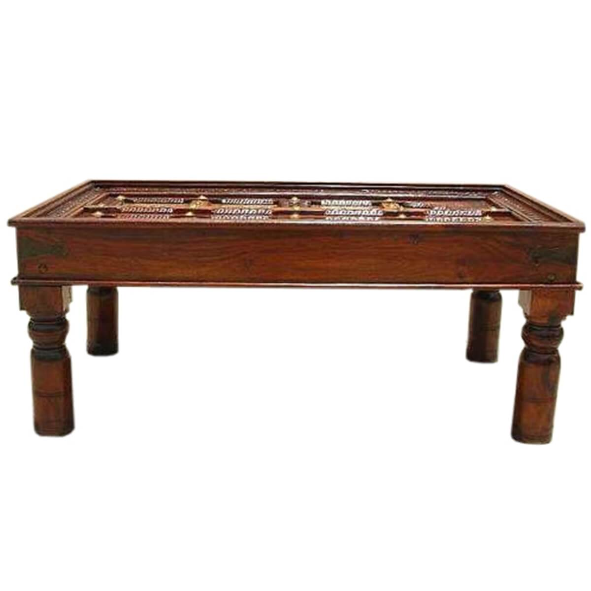 Pasco Handcrafted Royal Door Table Top Mango Wood Coffee Table