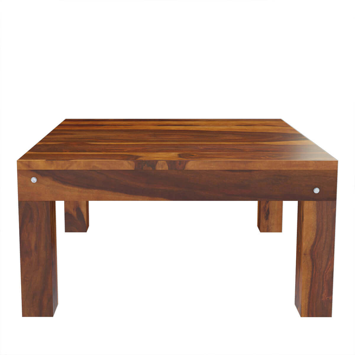 Patet Contemporary Rustic Solid Wood Cocktail Square