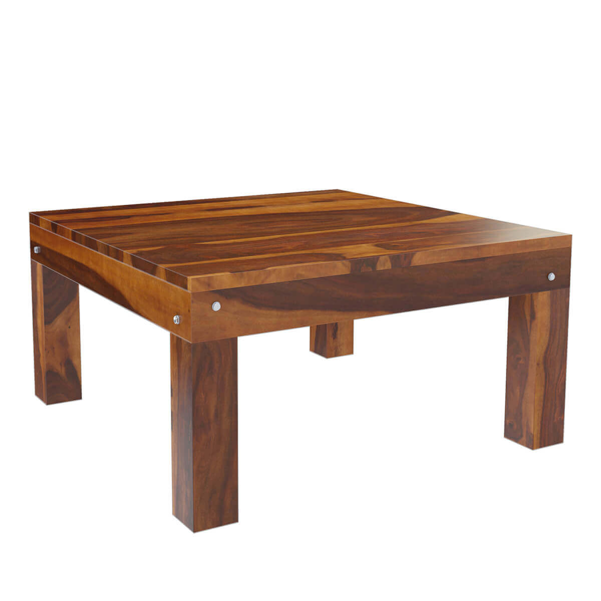New Chateau Formal Traditional Rustic Cherry Finish Wood: Solid Wood Traditional Rustic Square Coffee Table