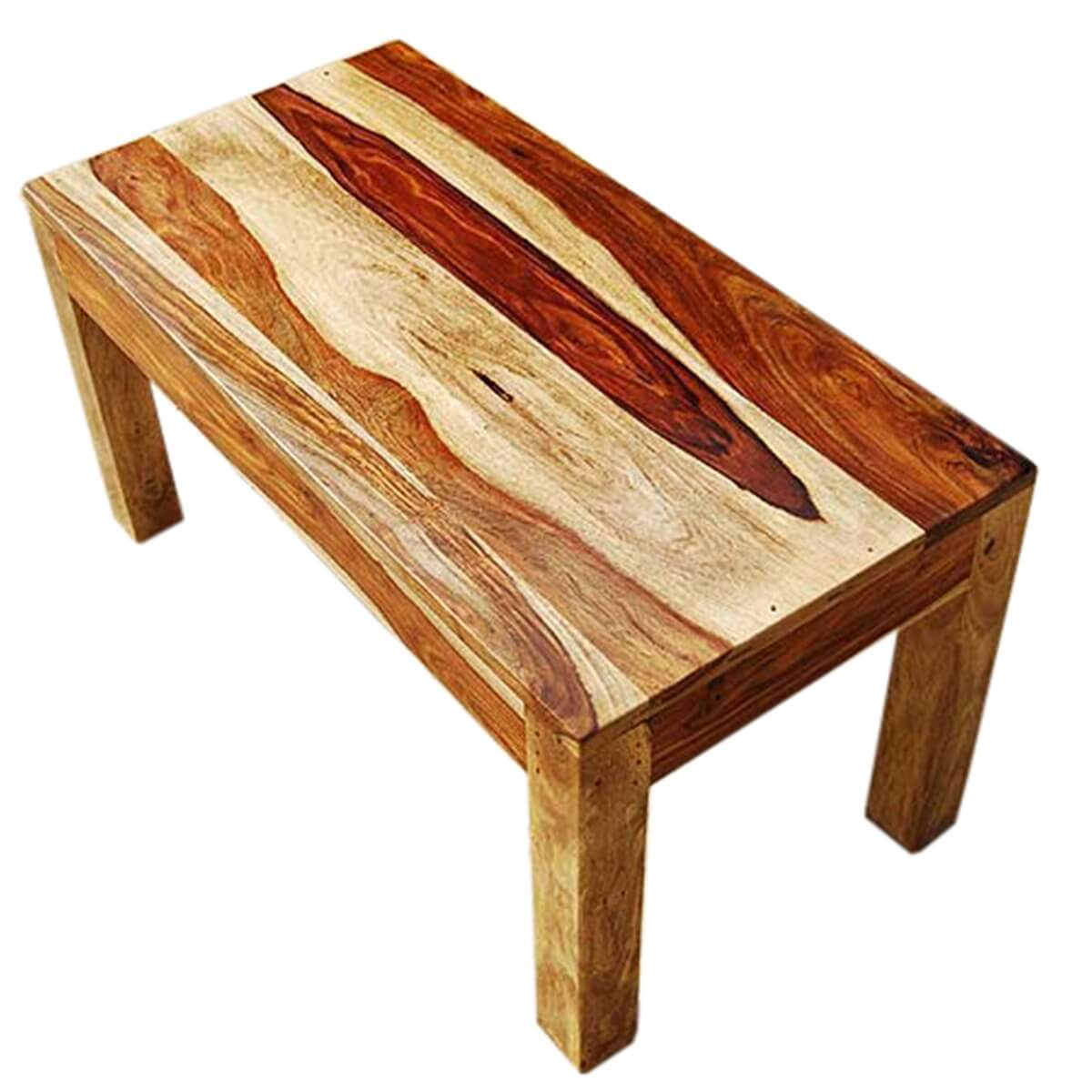Solid Wood Coffee Tables ~ Mission style solid wood rectangular coffee table
