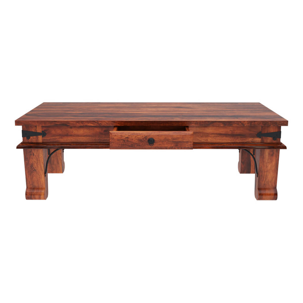 rustic solid wood rectangular one drawer urban shaker With rustic rectangular coffee table