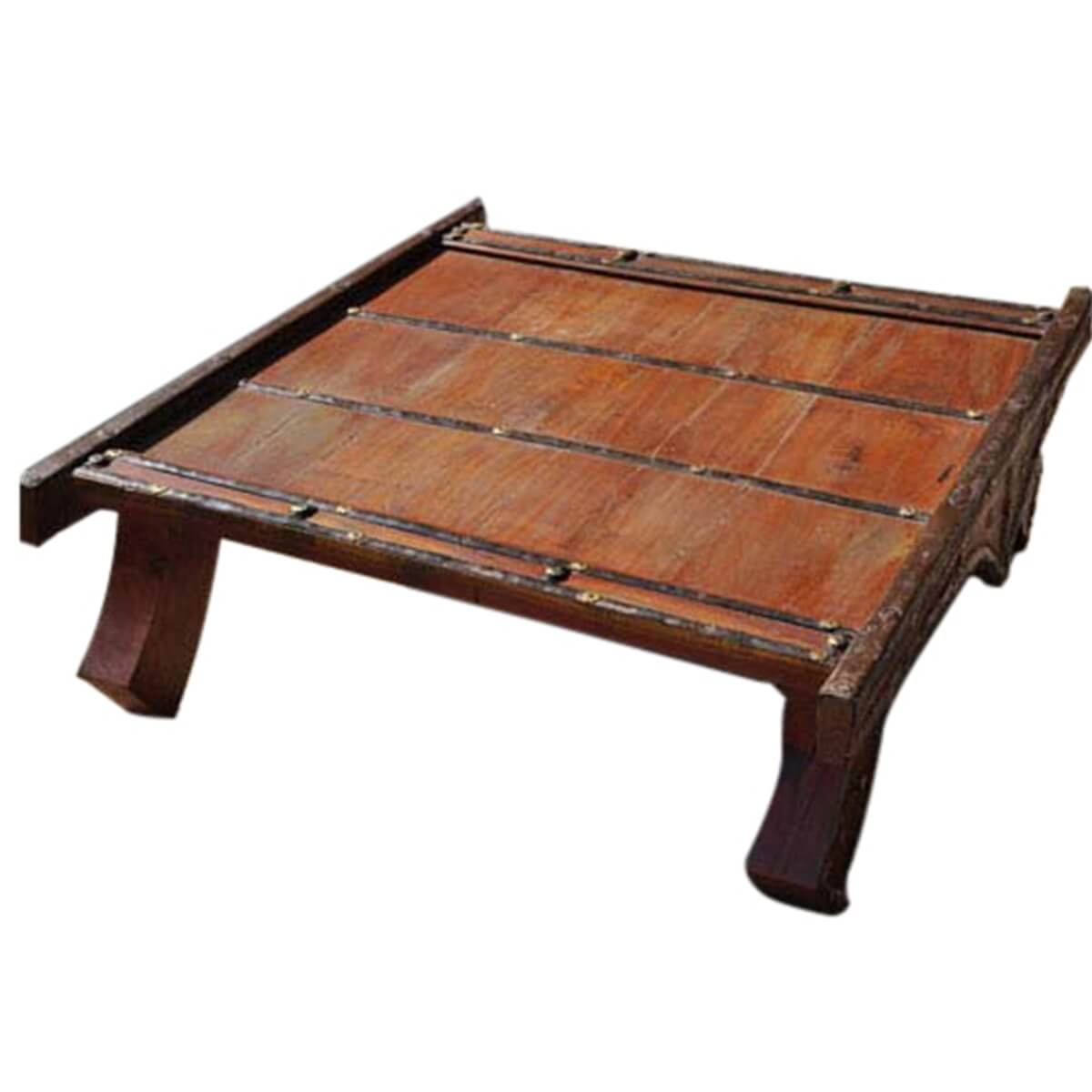 Pagoda Solid Wood & Brass Heritage Coffee Table