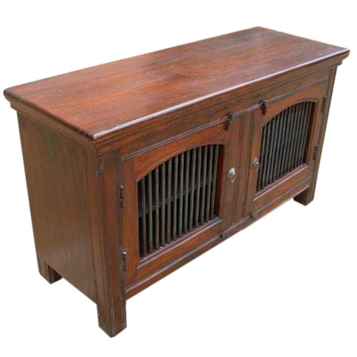Wade solid wood wrought iron door buffet cabinet