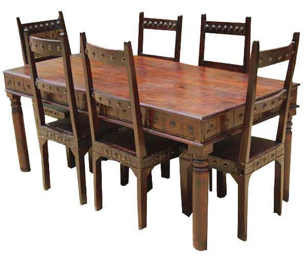Rustic Furniture Dining Room Table and Chair Set For 6 People : 1514 from www.sierralivingconcepts.com size 600 x 500 jpeg 57kB