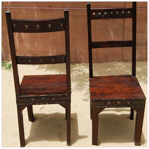 Rustic furniture dining room table and chair set for 6 people for Dining room table 6 person