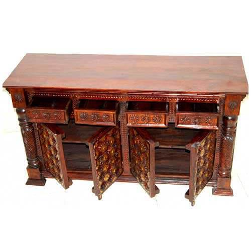 hand carved brass dining room credenza buffet cabinet with industrial wrought iron metal dining room door buffet