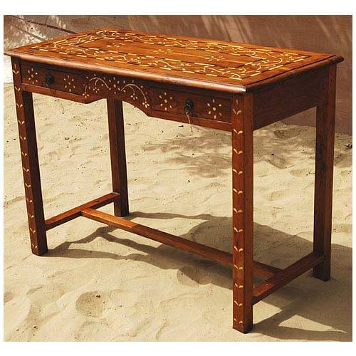 Drawer sofa foyer outdoor console table teak wood