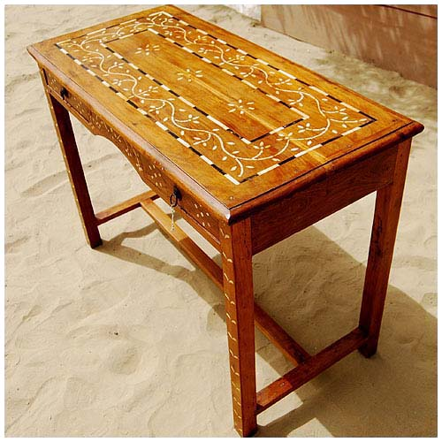 2 Drawer Sofa Foyer Outdoor Console Table Teak Wood