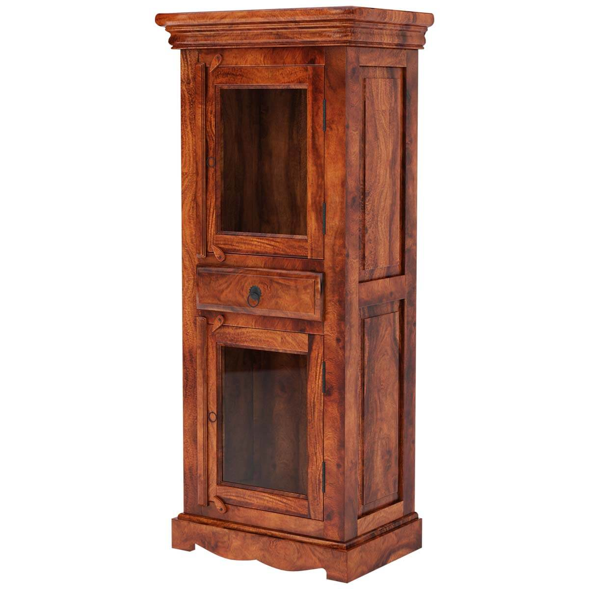 Solid Wood Closet Cabinets Livingston Solid Wood Rustic Wardrobe Armoire Cabinet Rustic Solid
