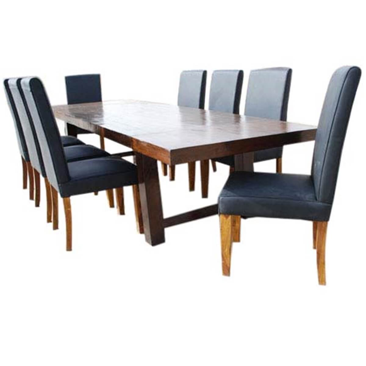 Matterhorn 13 pc transitional dining table and chair set for 12 person dinning table