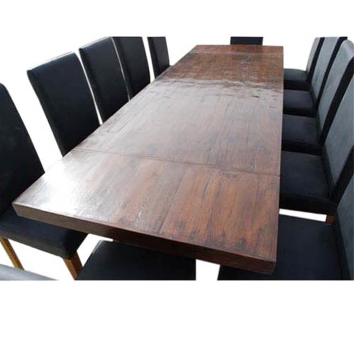 matterhorn 13 pc transitional dining table and chair set