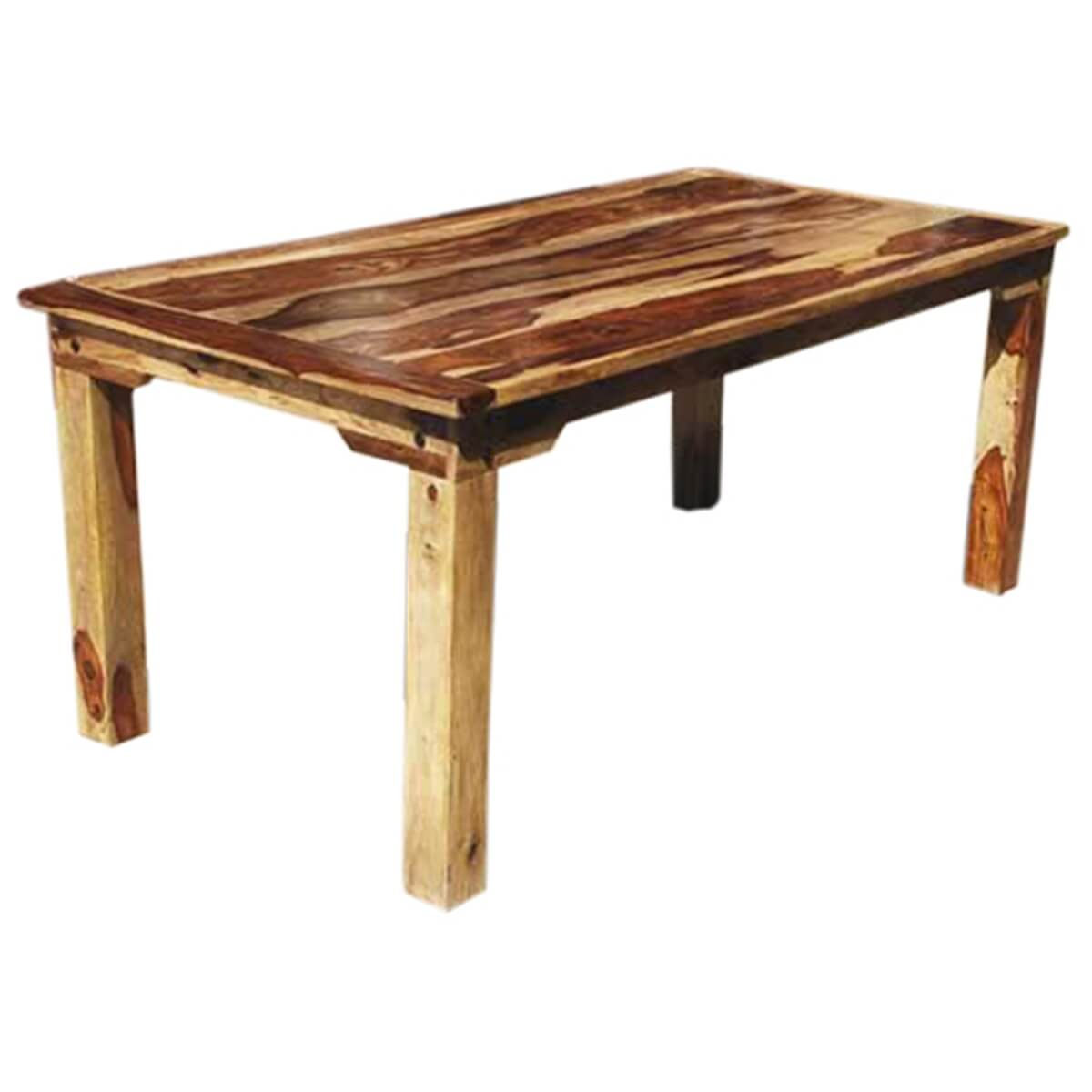 Rustic formal dining table rustic oak finish formal for Formal dining table
