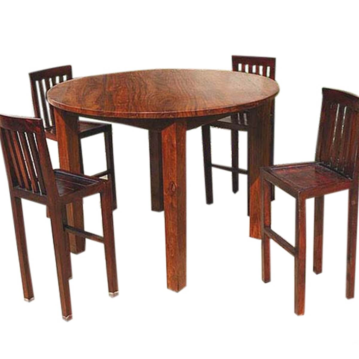 Nevada 5 pc contemporary counter height round dining table chair set Counter height dining table