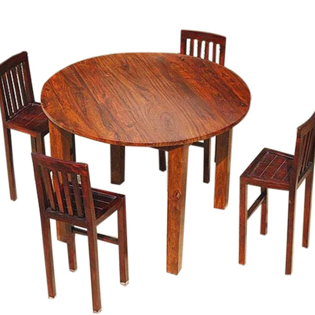 Nevada 5 pc contemporary counter height round dining table for Contemporary round dining table