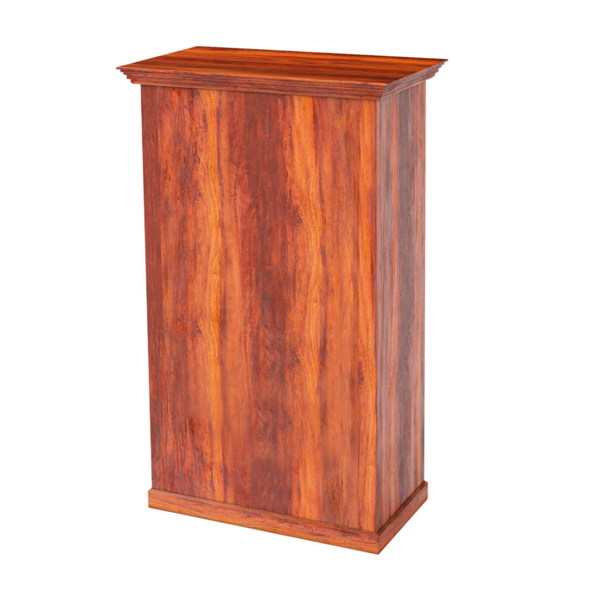 Alabama spacious handcrafted solid wood bar cabinet with for Wooden bar unit