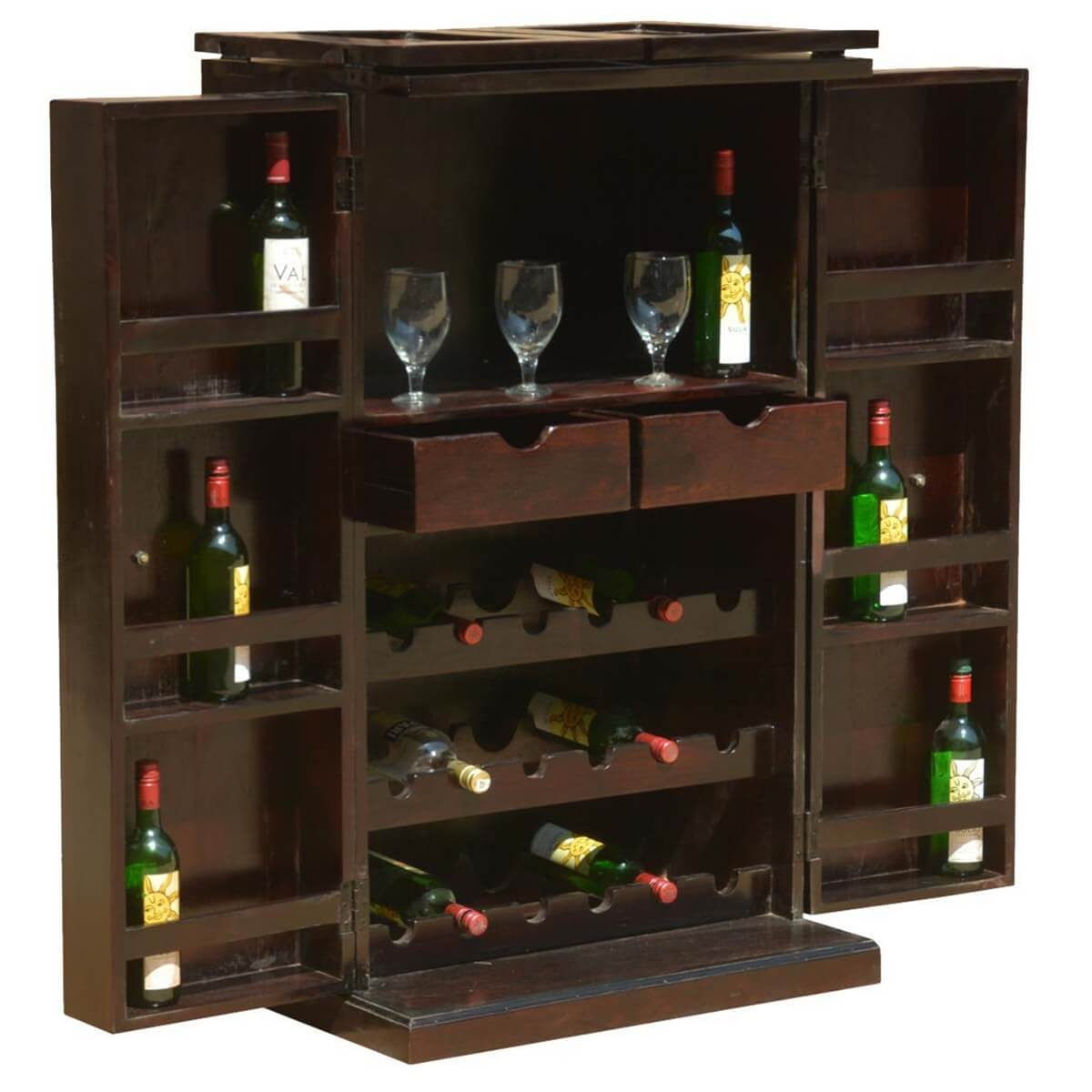mexico traditional handcrafted solid wood expandable wine. Black Bedroom Furniture Sets. Home Design Ideas