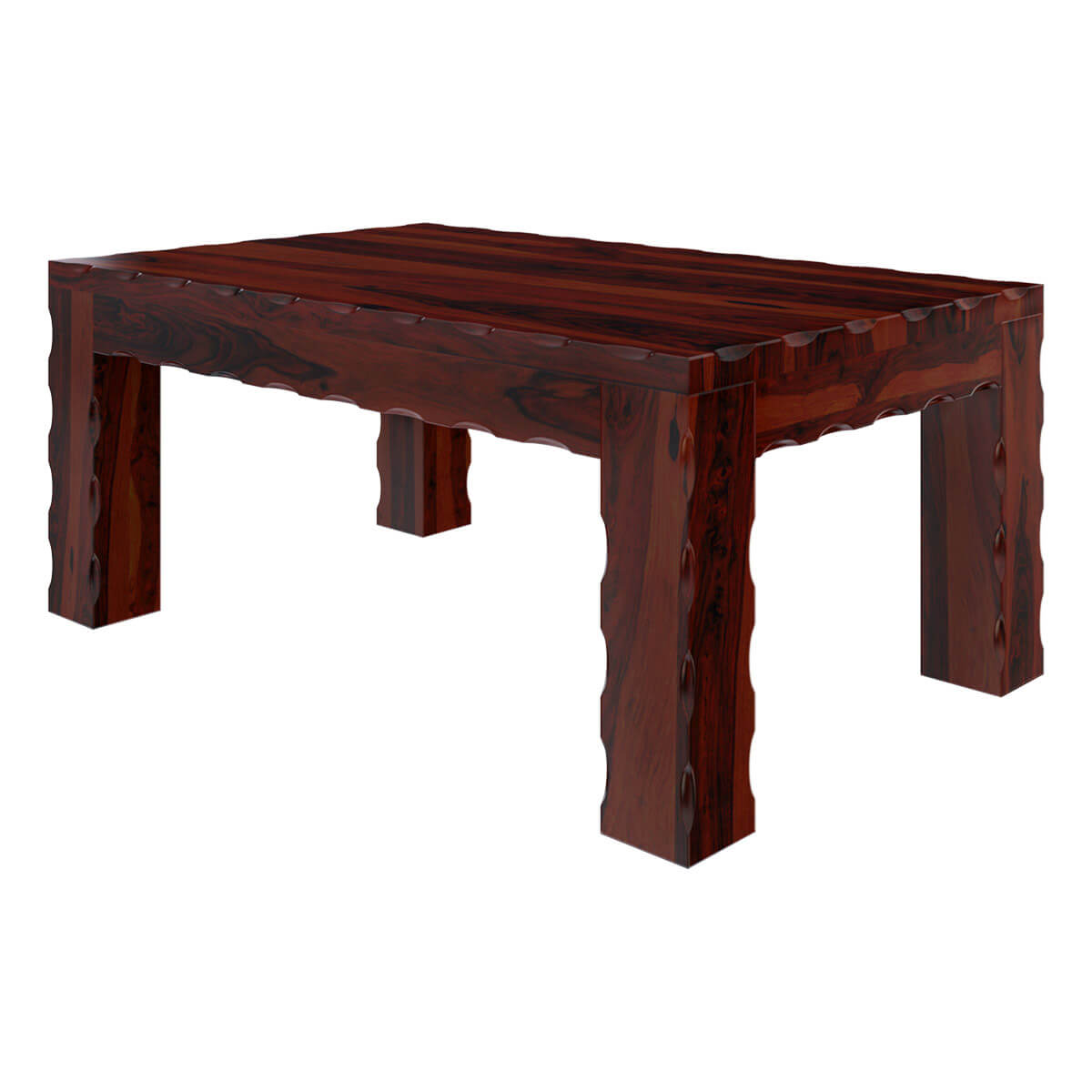 Unique rustic large cocktail wood coffee table for Unique coffee tables