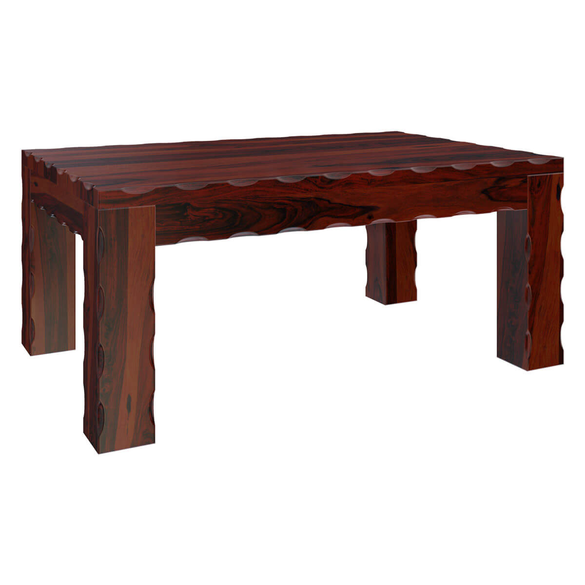 Yakima contemporary style solid wood large rustic coffee table for Modern style coffee tables