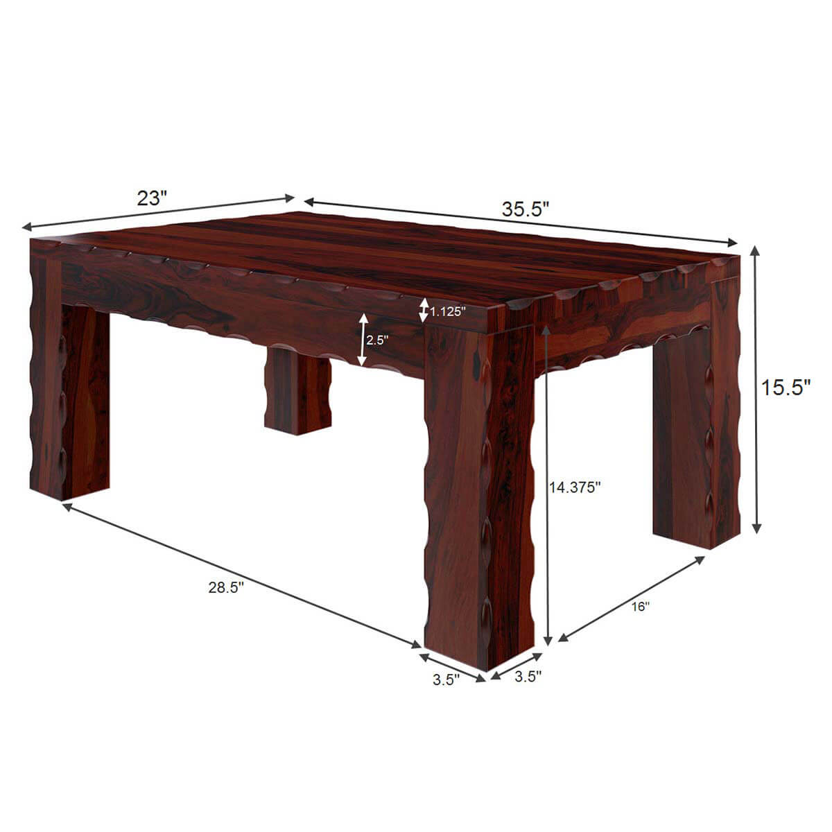 Yakima contemporary style solid wood large rustic coffee table for Large wooden coffee tables