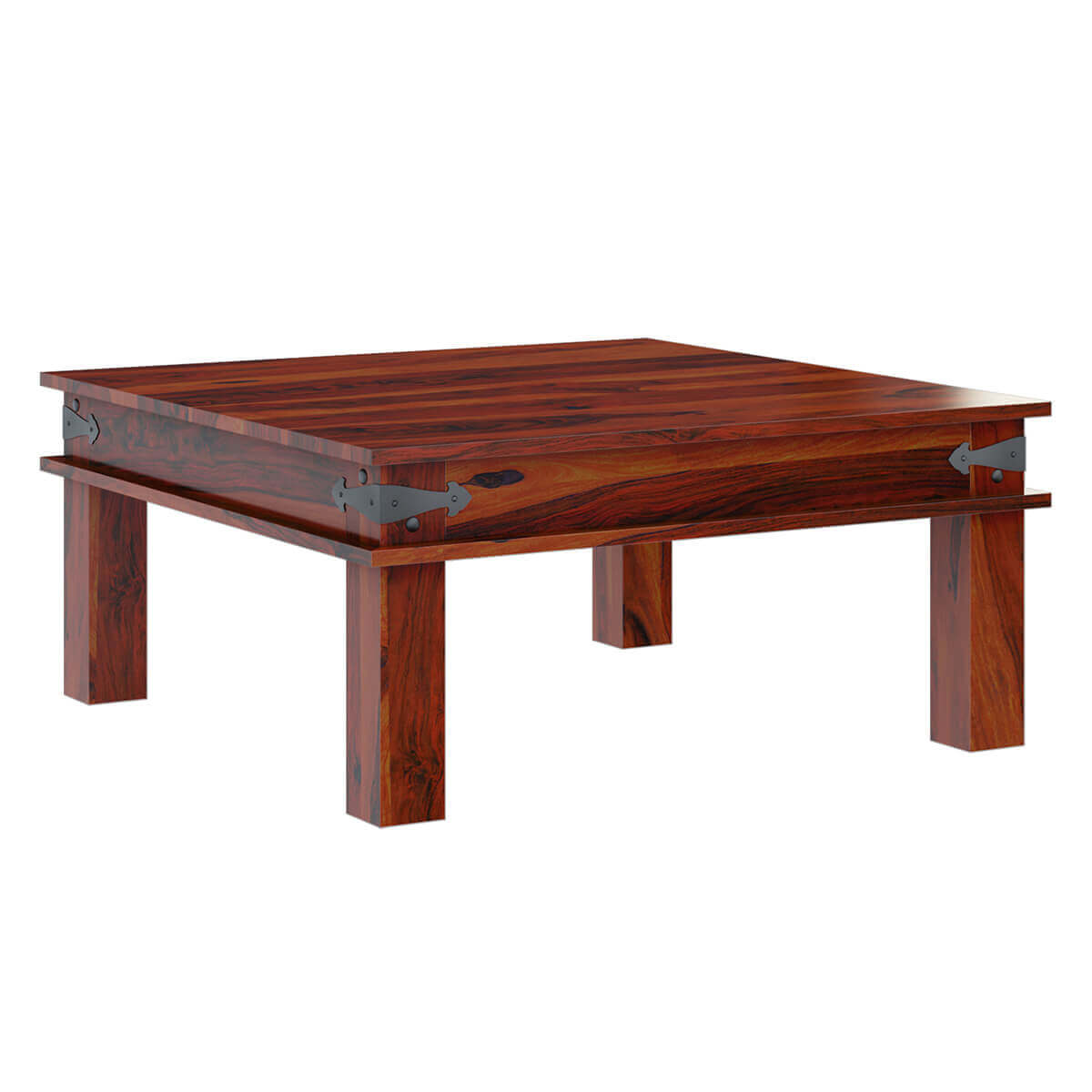 Classic Traditional Solid Wood 34 Square Coffee Table
