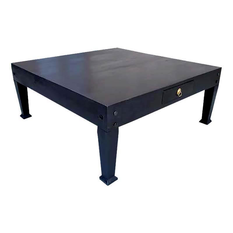 Square Coffee Table: Wood Large Cocktail Black Square Coffee Table