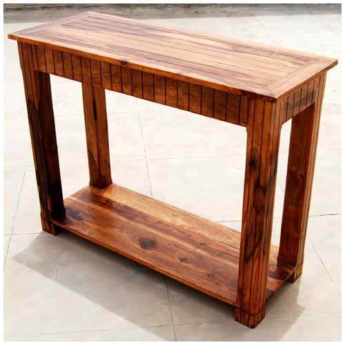 Solid wood storage drawer sofa entryway console table
