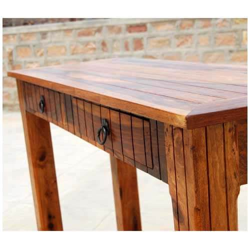 Solid Wood Sofa Table ~ Solid wood storage drawer sofa entryway console table