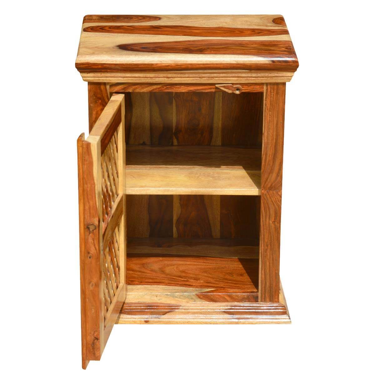 Kitchen Side Table: Wood Night Stand Bed Side Table Kitchen Storage Cabinet