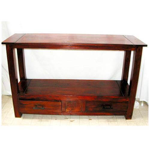 Entry Foyer Console : Solid wood console hall entry foyer table furniture