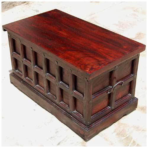 Cherry Wood Trunk Coffee Table: Cherry Wood Storage Chest Trunk Toy Box Coffee Table