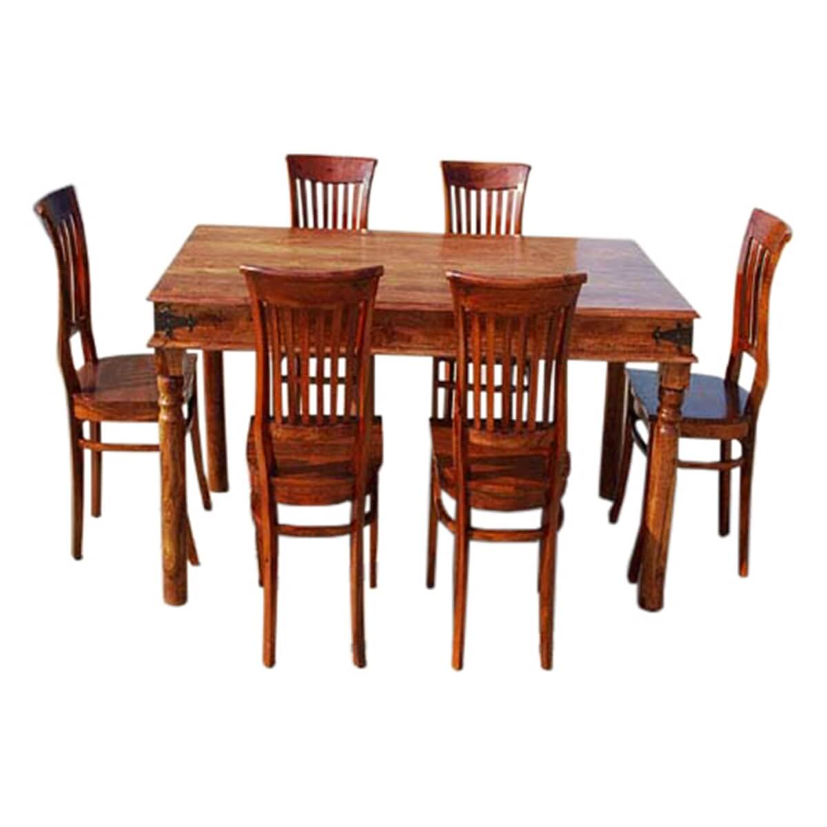 city 7 pc dinette table with barrel school back chairs