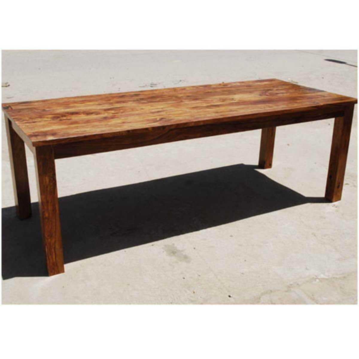 Classic Rustic Solid Wood Cariboo Dining Table For 6 People