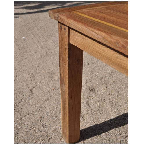 Rectangular Farmhouse Rustic Dining Table Made Of Teak Wood