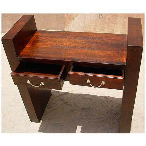 contemporary strong wood console sofa foyer table