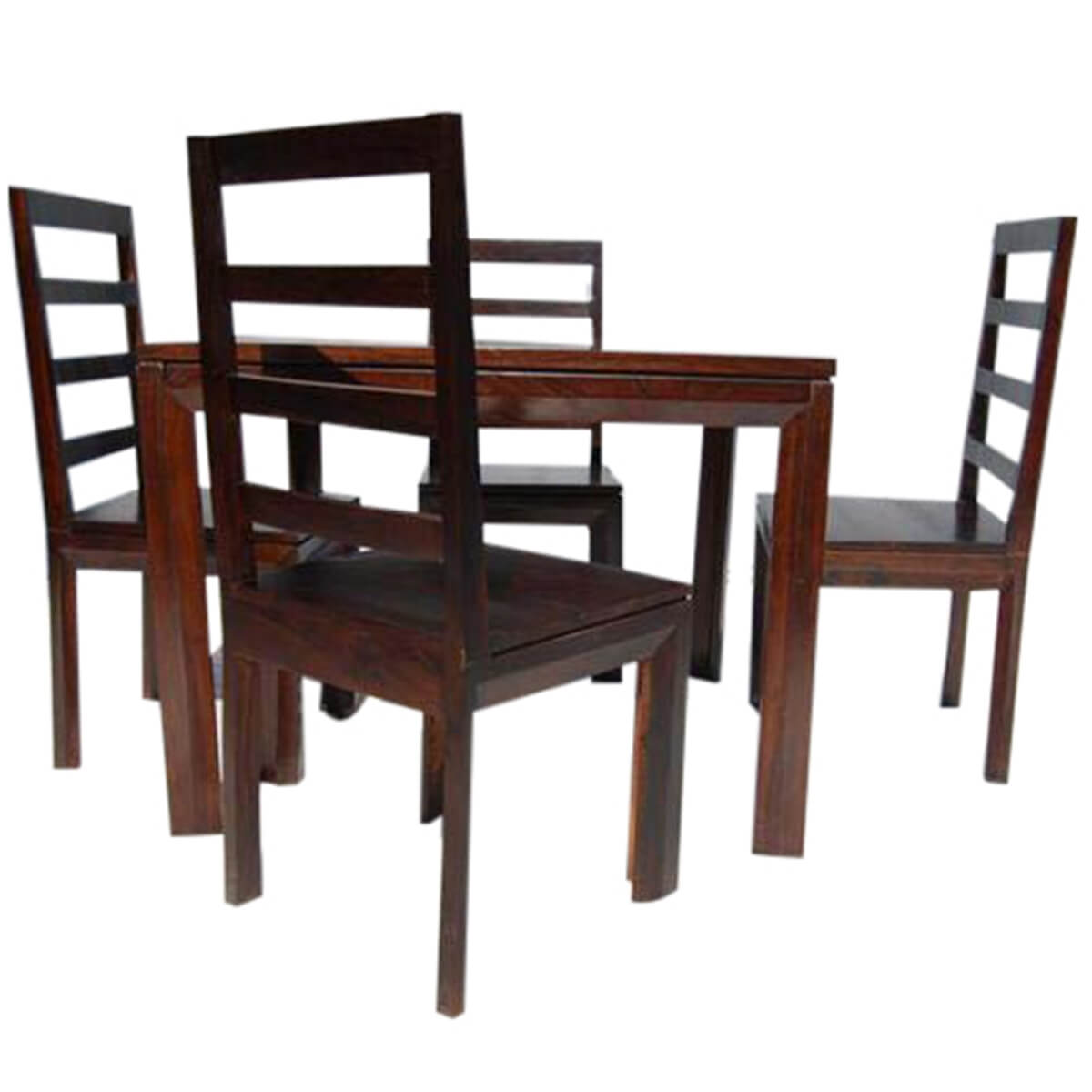 Solid wood transitional dining table and chairs set Wooden dining table and chairs