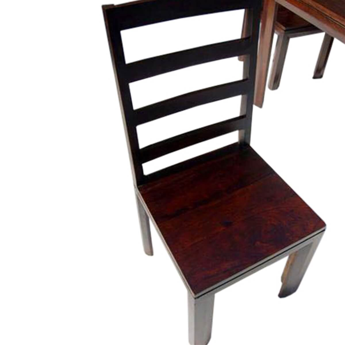 solid wood transitional 5pc dining table and chairs set