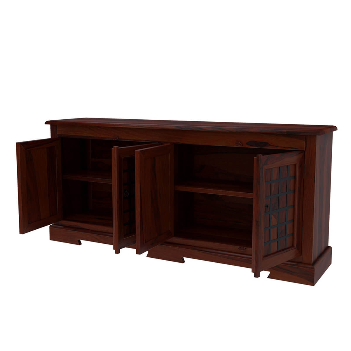 Wrought Iron And Wood Sideboards ~ Sierra door sideboard solid wood buffet cabinet w