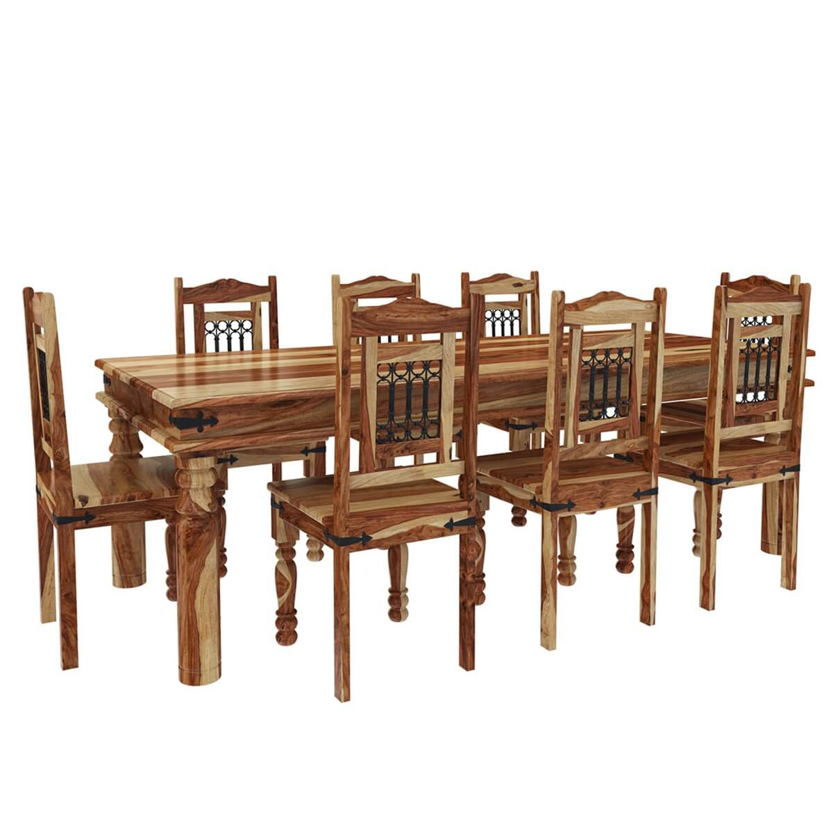 dallas classic solid wood dining room table and chair set